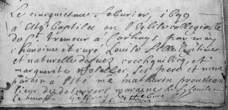1679 N à Carhaix St Tremeur Louise Crechquilicq