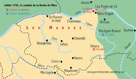 Guerre de Vendee juillet 1793 en Anjou