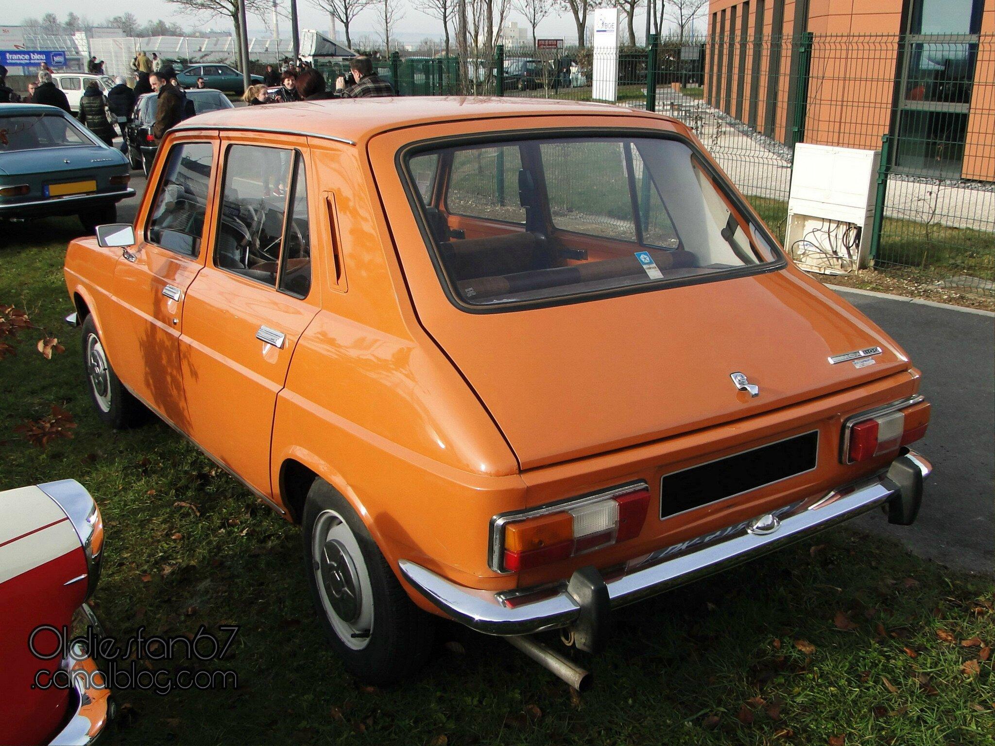 """Simca 1100 LE 1975-1978 - Oldiesfan67 """"Mon blog auto"""""""