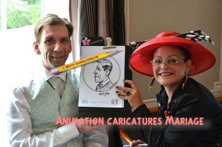 dj mariage caricaturiste