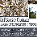 12 mars 2017 : randonnée dans les mauges, au pays de cathelineau, d'elbée et perdriau