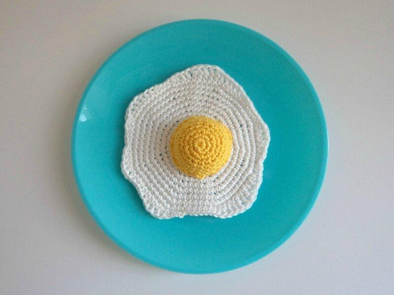 Oeuf au plat au crochet Cam&Drey bricolent