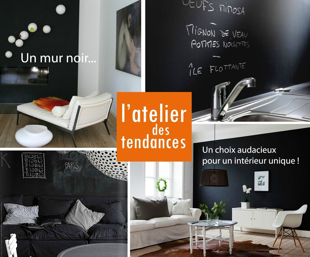mur noir photo de conseil d co rozenn krebel photographe. Black Bedroom Furniture Sets. Home Design Ideas
