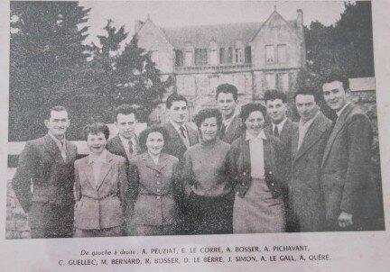 Les Tréteaux Bigoudens - Pouldreuzic 1954-1955