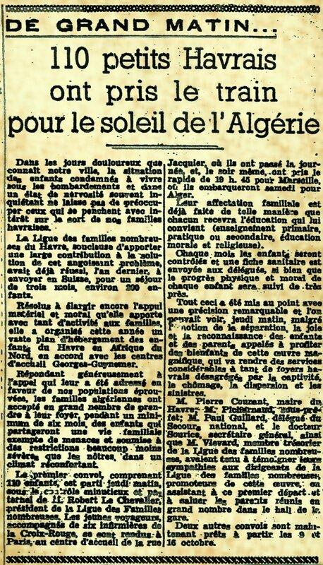 « Le petit Havre » article du 3 octobre 1941 petit_matin