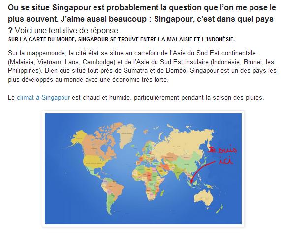 OU SE TROUVE SINGAPOUR - 2