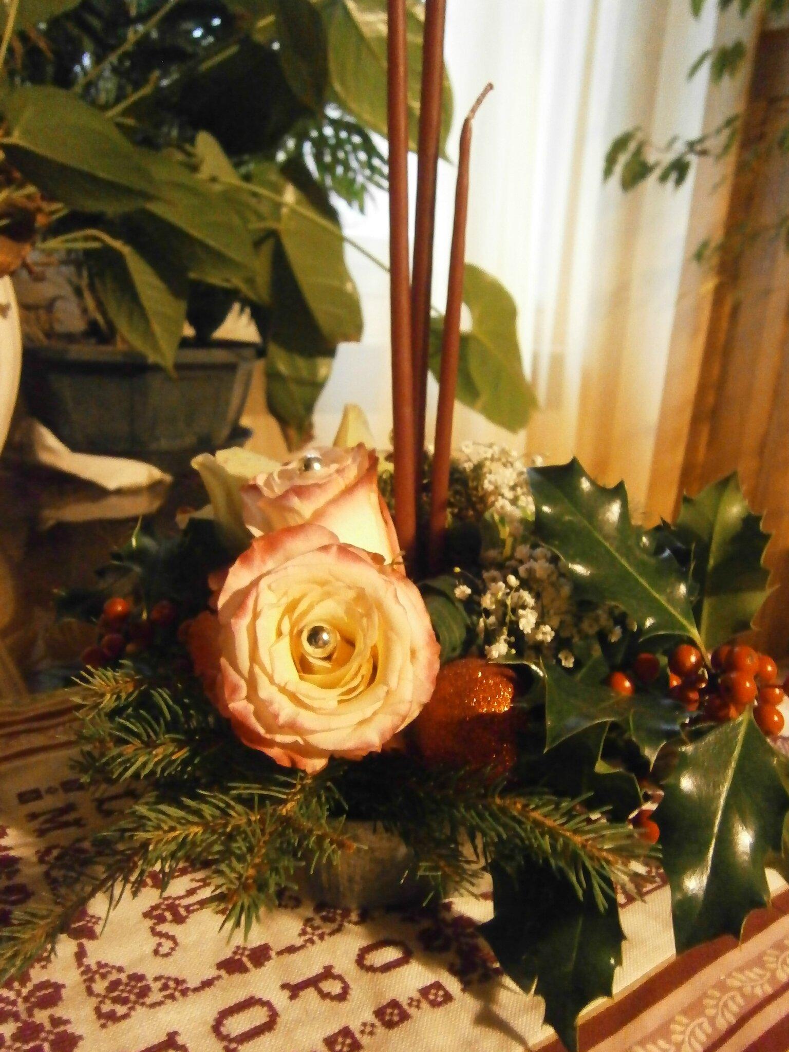 atelier floral de Noël