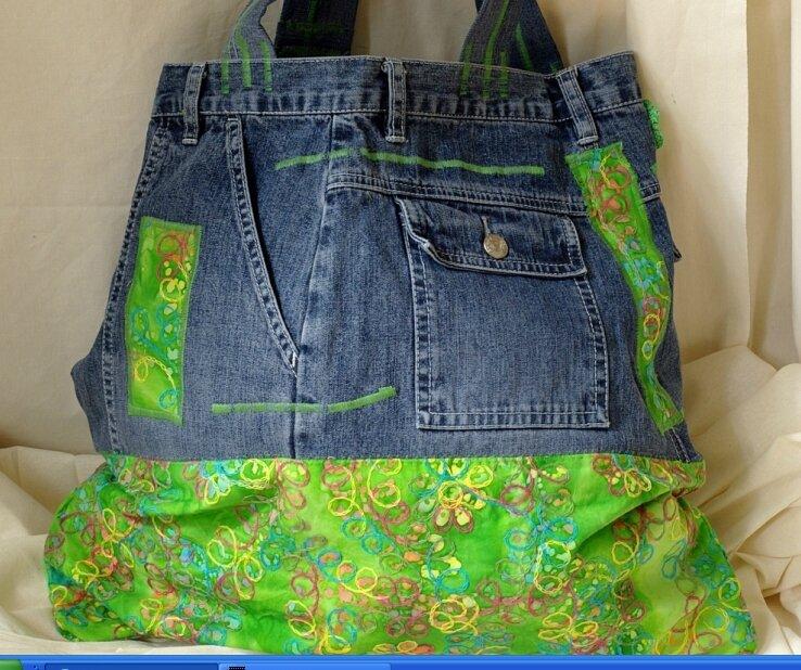 Atelier couture r cup je recycle et transforme mon jean pause creative - Objets recuperes et transformes ...