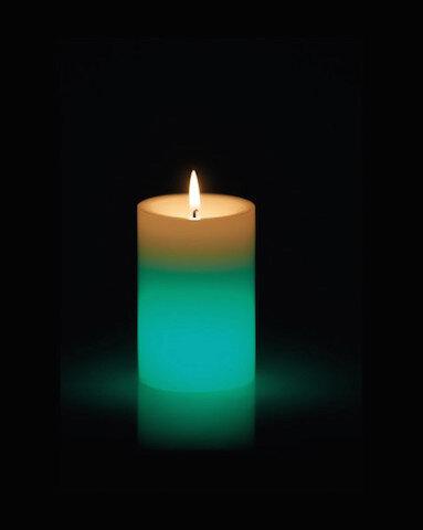 bougies devineau bougie led bleu vert