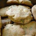 Cookies moelleux chocolat blanc & pistaches