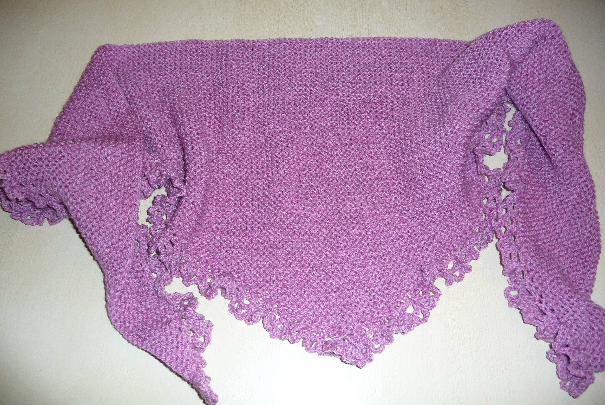 chales au tricot