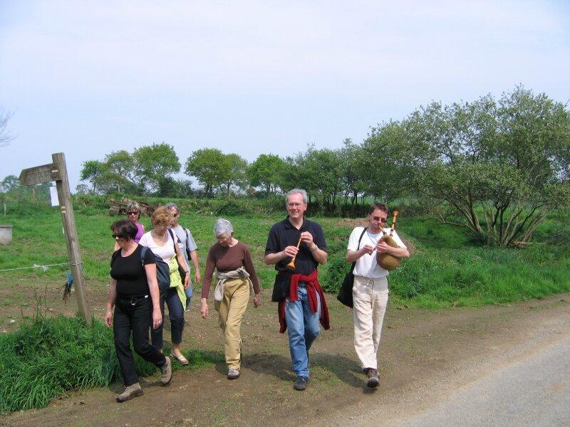 randonné musicale dans la campagne de Boquého