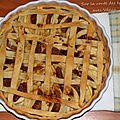 Tarte aux pommes et aux figues sèches