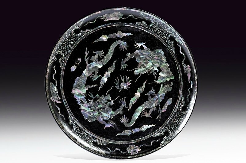 A lacquer plate, Vietnam, 19th century