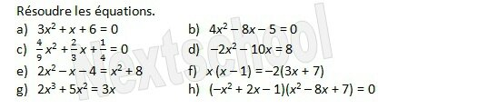 premiere second degre equation 3 1