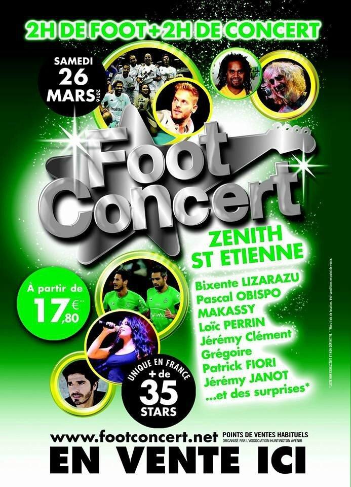 Pascal Obispo au prochain Foot Concert le 26 mars à St Etienne