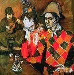 Picasso Au 'Lapin Agile' (Arlequin au verre)