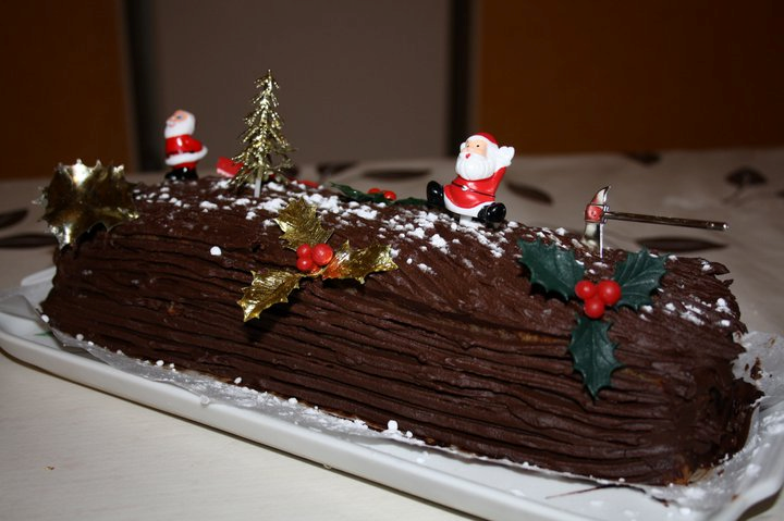 Decoration buche de noel en chocolat - Decoration pour buche de noel maison ...