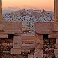 P1030999 - Naxos, vue sur notre bivouac urbain.