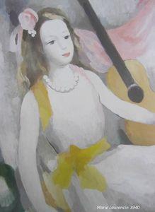 Femme à la guitare - détail