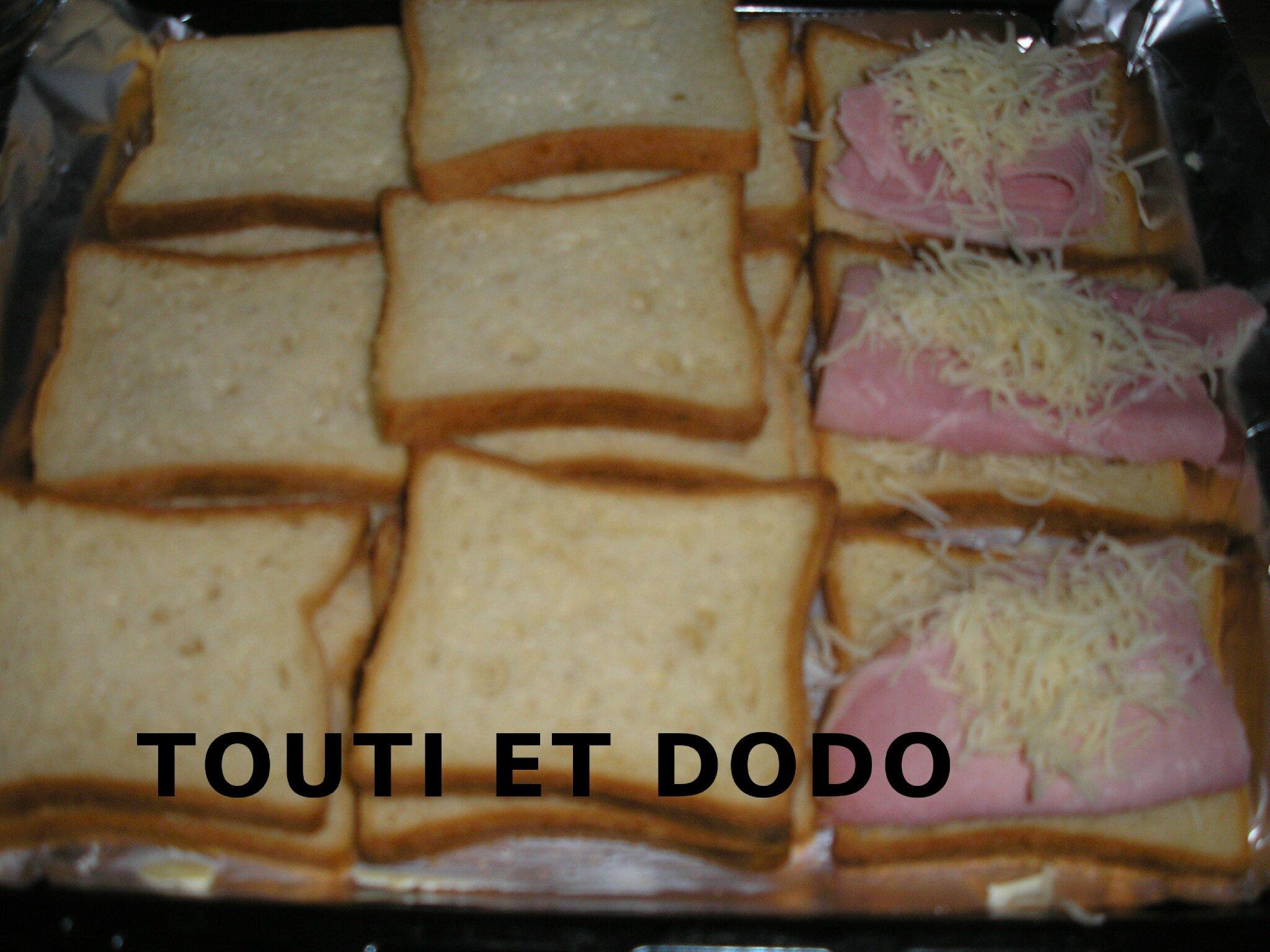 Croque monsieur au four la cuisine des oursons gourmands touti et dodo - Sachet cuisson croque monsieur grille pain ...