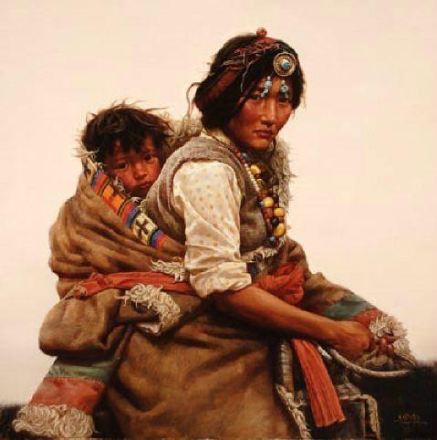 femme et son enfant yurtao