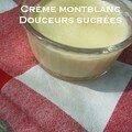 Ca y est, la crème montblanc !