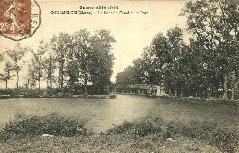 Courmelois pont canal et port 1914-1919
