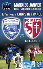 Avranches Metz 16 finale coupe de France football affiche