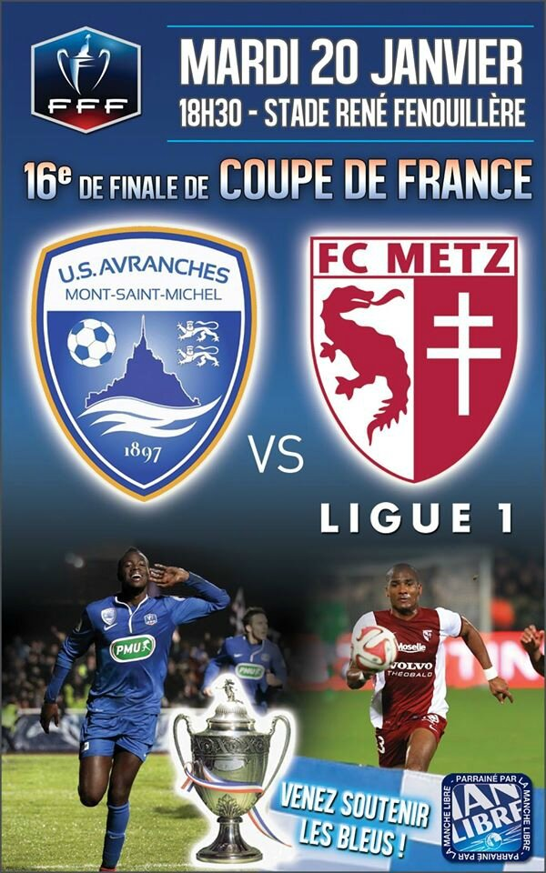 Match avranches vs metz en 16 me de finale de coupe de france sold out avranches infos - Match de foot coupe de france en direct ...