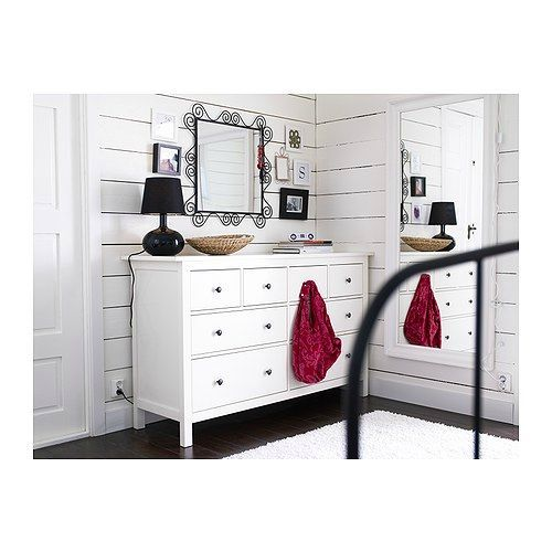 commode 8 tiroirs blanche. Black Bedroom Furniture Sets. Home Design Ideas