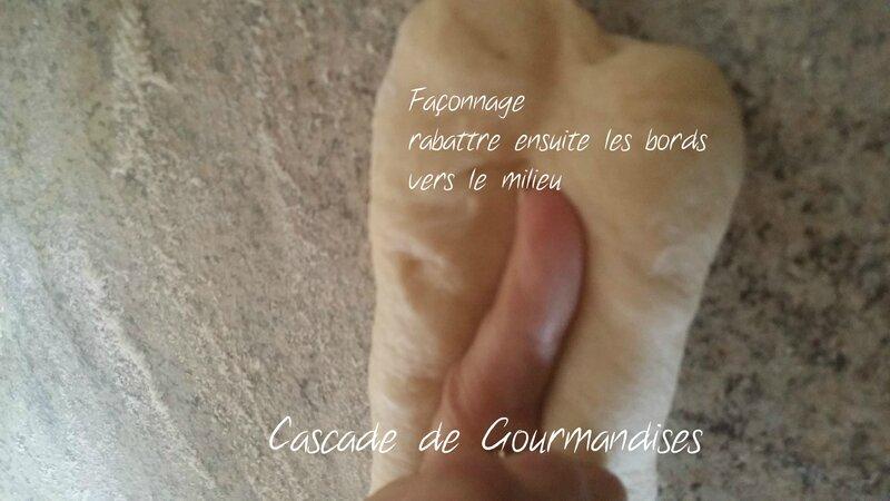 Baguettes de pain viennois façonnage