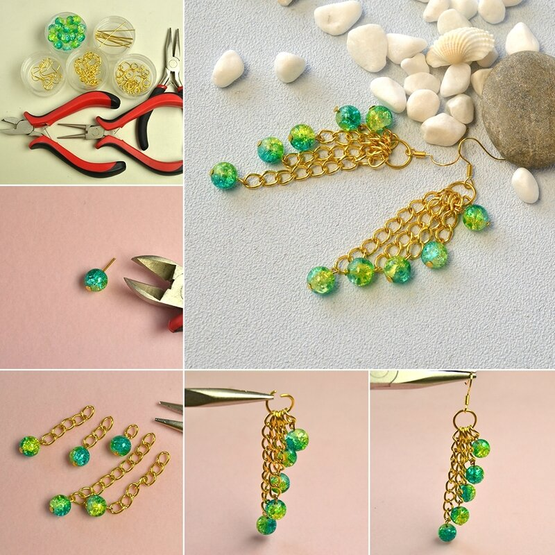 1080-How-to-Make-Fresh-Tassel-Dangle-Earrings-with-Crackle-Glass-Beads-and-Chains