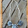 collier lentilles tourbillons grises