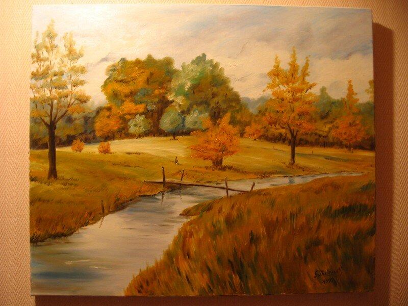 Paysage d'automne (huile) - Mes dessins, mes peintures