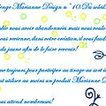 cARTe combo jaune pour Marianne Design France