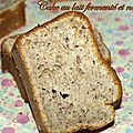 Cake au lait ferment et noisette
