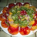 Salade de tomates de couleurs