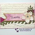 Thank you card botanical blooms and last chance to win!