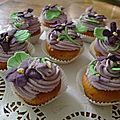 Cup cakes a la violette