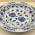 Plate, china, early 15th century, ming dynasty