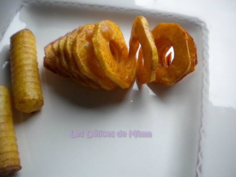 Pommes de terre en spirales