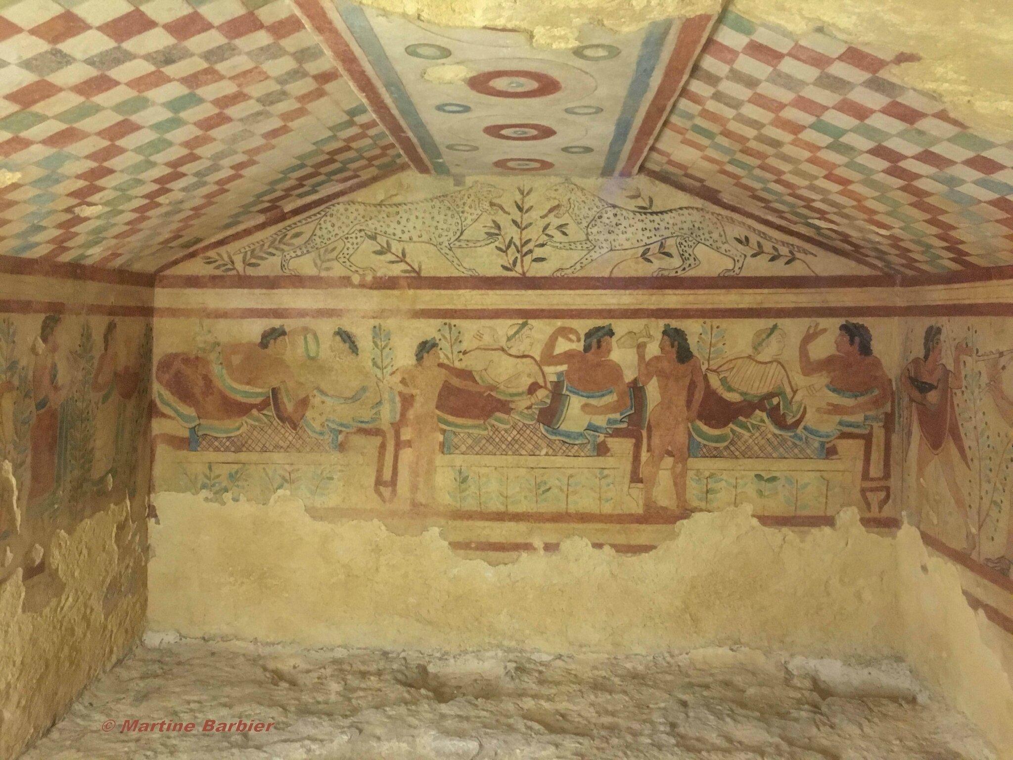 Tarquinia (nécropole étrusque, aux 6000 tombes)