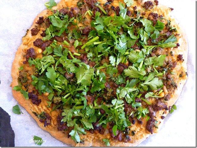 Pizza au houmous