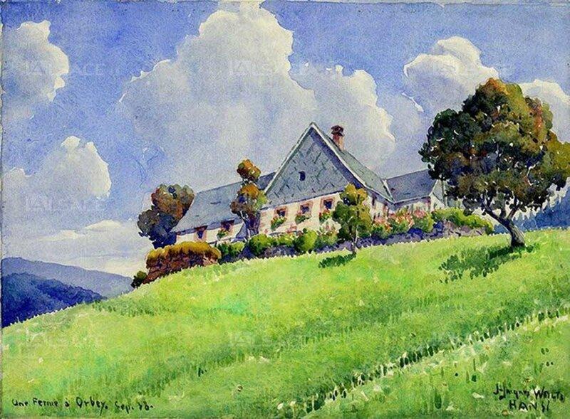 Hansi vosges - une-ferme-a-orbey-1938-musee-hansi-riquewihr