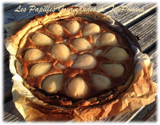 Tarte amandine poire-chocolat