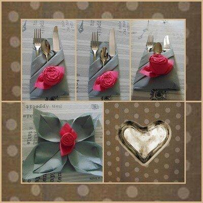 Pliage de serviette en papier en forme de rose les chiffons de brunella Pliage avec 2 serviettes en papier