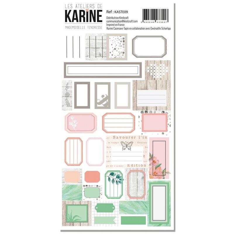 Les Ateliers de Karine Mademoiselle Tendresse stickers etiquettes