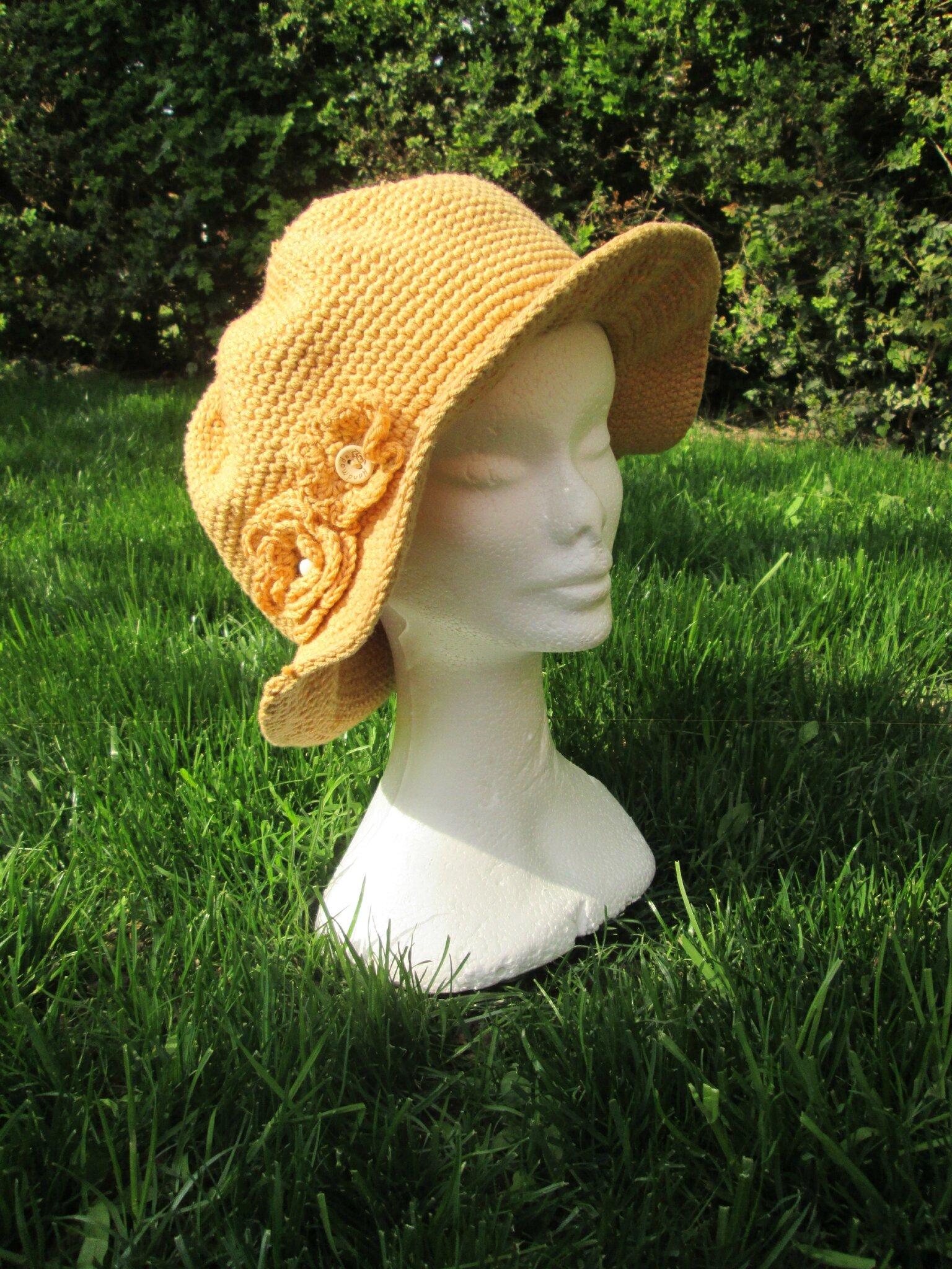 Chapeau de soleil au crochet-tuto-