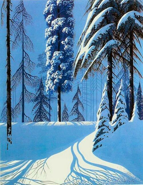 ombres sur la neige - Eyvind Earle 5